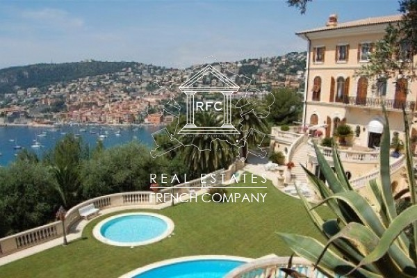 location belle villa situ e entre nice et monaco villefranche sur mer france rfc estates. Black Bedroom Furniture Sets. Home Design Ideas